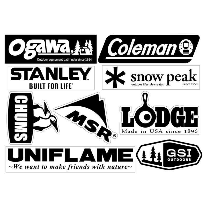 露營品牌防水貼紙