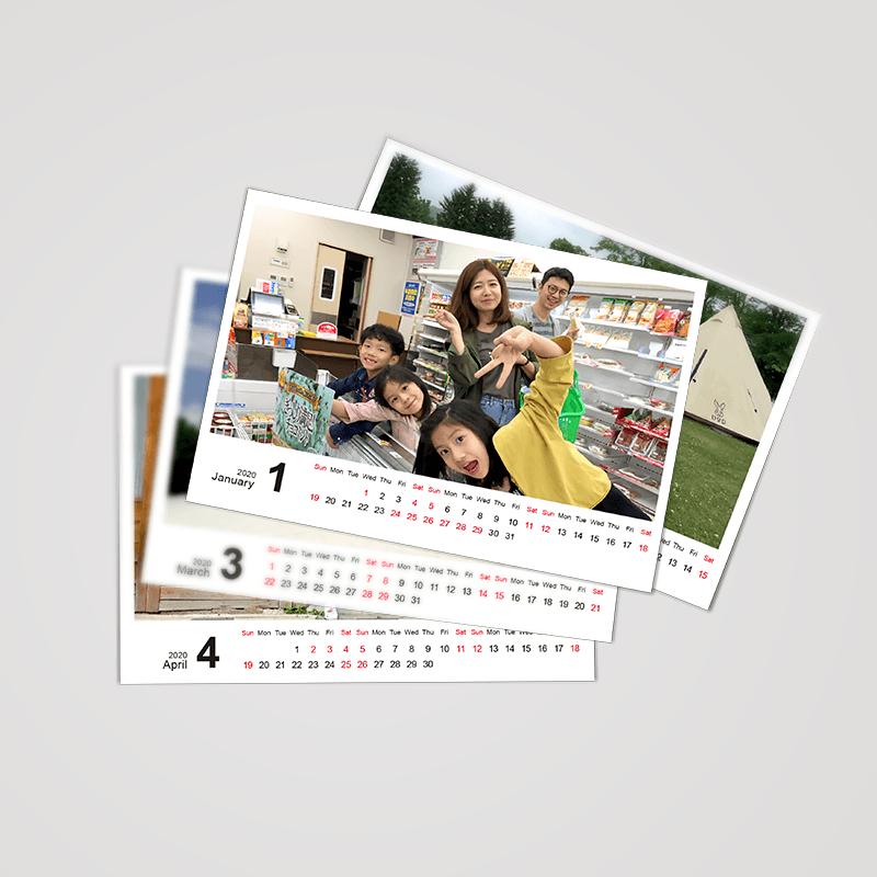 客製桌曆,明信片,生日禮物,情人節禮物