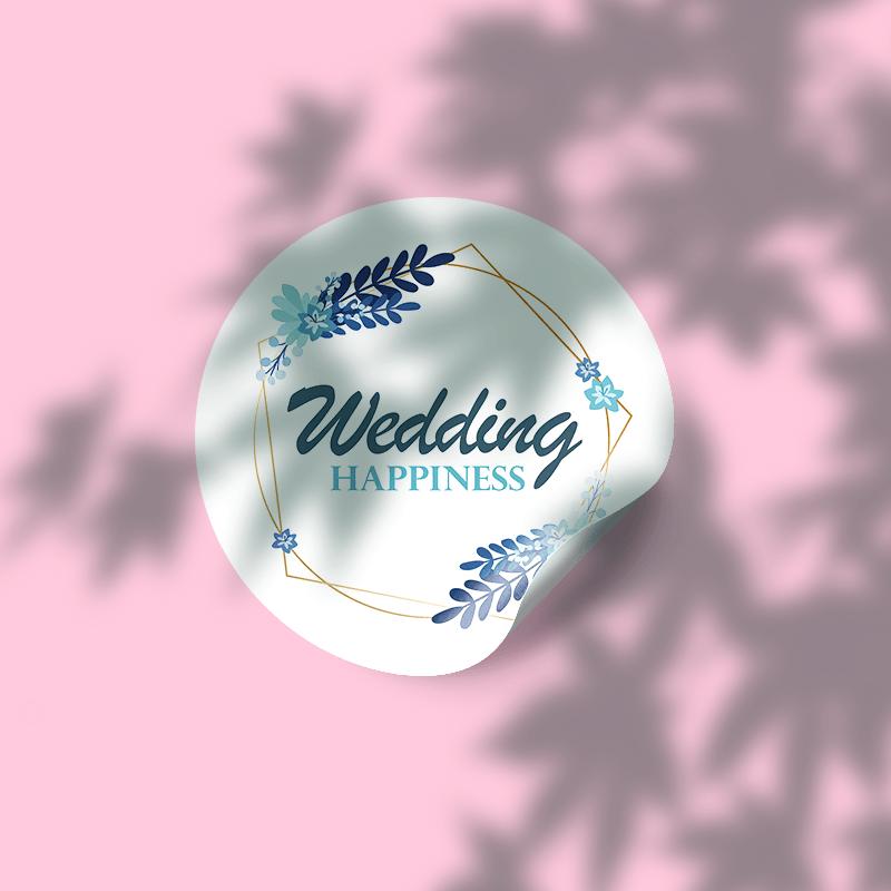 婚禮喜糖貼紙,喜字貼紙,封口貼紙
