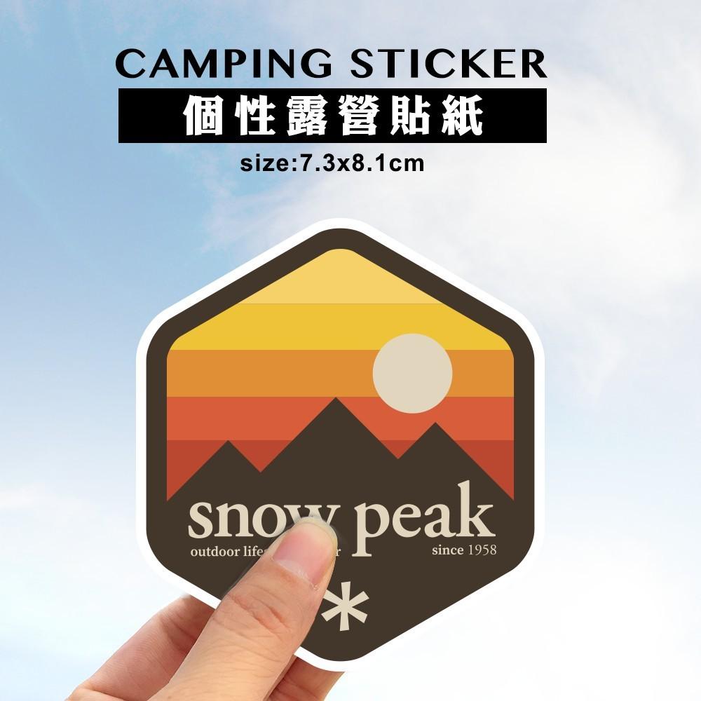 露營貼紙,車貼,snow peak