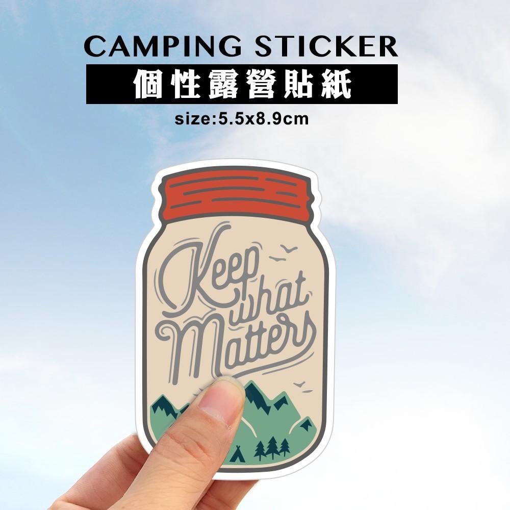 露營貼紙goout